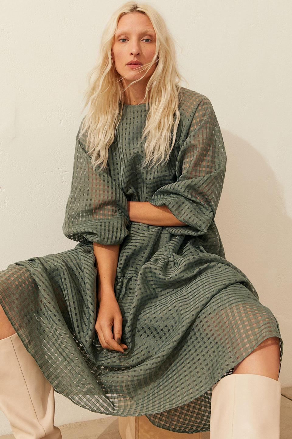 <p>This <span>Jacquard-weave Dress</span> ($50) is easy to throw on and will make you look effortlessly stylish.</p>