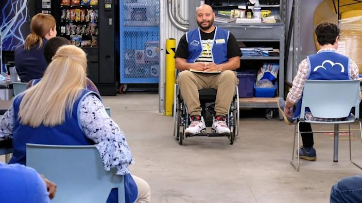 """Superstore -- NBC TV Series, SUPERSTORE -- """"Hair Care Products"""" Episode 605 -- Pictured: Colton Dunn as Garrett -- (Photo by: Trae Patton/NBC) Colton Dunn in """"Superstore"""" on NBC."""