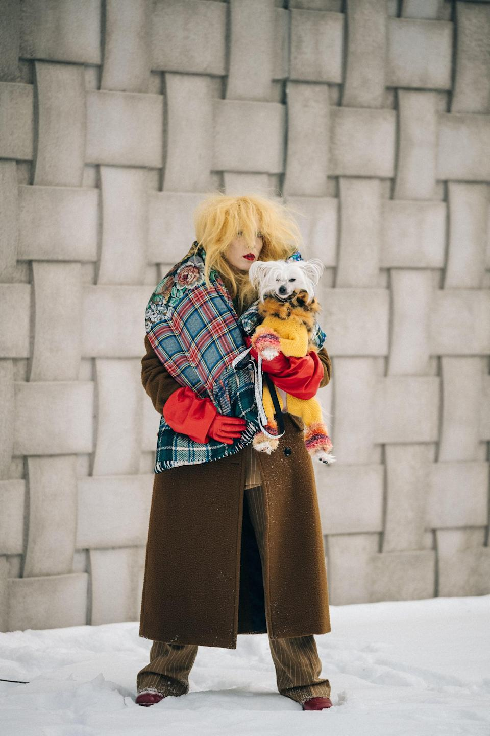 <p>This goes without saying, but if you're stepping out in colorful layers, so is your pup.</p>