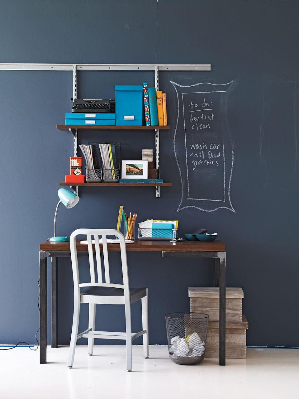 <p>Looking for an easy way to add a playful touch to your office? Consider chalkboard paint that's ideal for putting your to-do list on full display.</p>