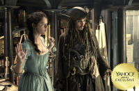 """<p>At Jack Sparrow's next port of call, <a rel=""""nofollow"""" href=""""https://www.yahoo.com/movies/tagged/javier-bardem"""" data-ylk=""""slk:Javier Bardem"""" class=""""link rapid-noclick-resp"""">Javier Bardem</a> plays a dead man with a lot to get off his chest when he rises to menace <a rel=""""nofollow"""" href=""""https://www.yahoo.com/movies/tagged/johnny-depp"""" data-ylk=""""slk:Johnny Depp"""" class=""""link rapid-noclick-resp"""">Johnny Depp</a>'s saucy pirate. Old faves resurface, while newbies <a rel=""""nofollow"""" href=""""https://www.yahoo.com/movies/tagged/brenton-thwaites"""" data-ylk=""""slk:Brenton Thwaites"""" class=""""link rapid-noclick-resp"""">Brenton Thwaites</a> and <a rel=""""nofollow"""" href=""""https://www.yahoo.com/movies/tagged/kaya-scodelario"""" data-ylk=""""slk:Kaya Scodelario"""" class=""""link rapid-noclick-resp"""">Kaya Scodelario</a> get their sea legs. 
