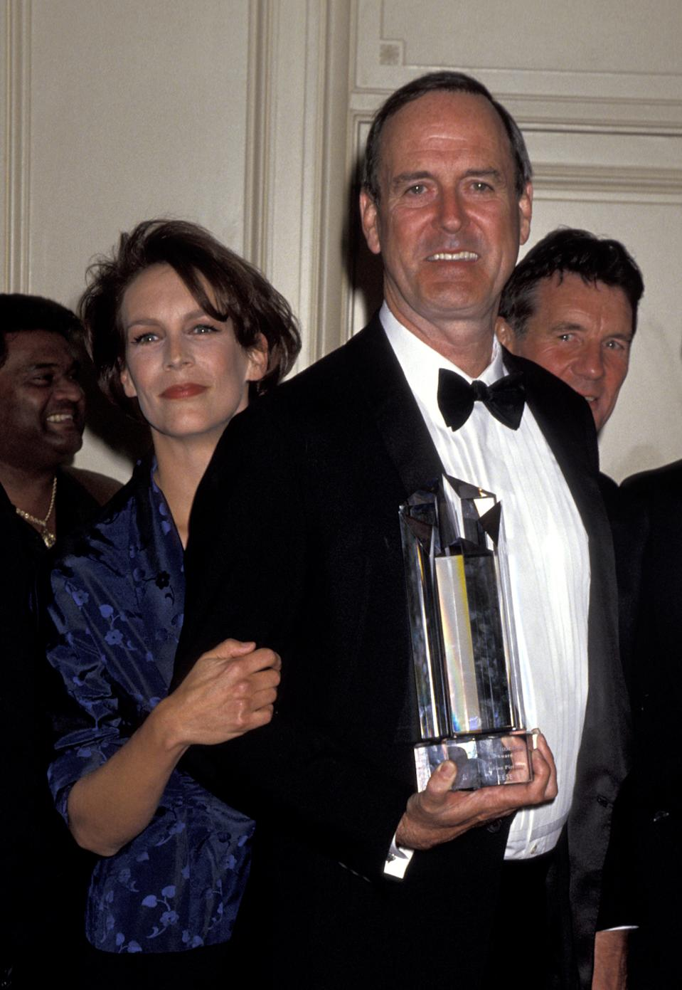 Jamie Lee Curtis and John Cleese during The Screen Actors Guild Jack Oakie Awards at Regent Beverly Wilshire Hotel in Beverly Hills, California, United States. (Photo by Jim Smeal/Ron Galella Collection via Getty Images)