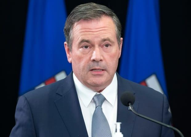 Alberta Premier Jason Kenney on Thursday announced a COVID-19 vaccination policy for provincial public servants. Columnist Graham Thomson wonders if he'll set a similar policy for UCP MLAs. (Chris Schwarz/Government of Alberta - image credit)