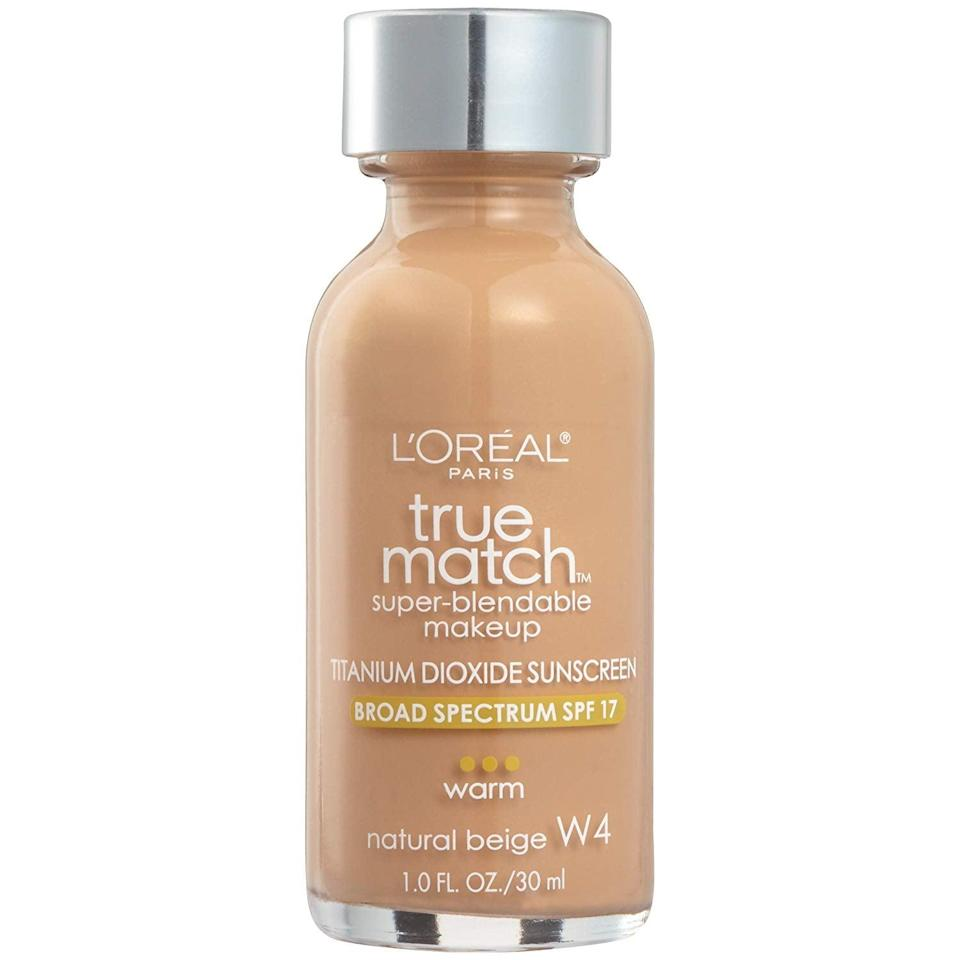 <p>Don't sleep on the <span>L'Oreal True Match Foundation</span> ($11) just because it's been around for a long time. The formula blends into skin effortlessly and makes it look like you naturally have an even tone without wearing makeup. Plus, it comes it an impressive 43 shades.</p>