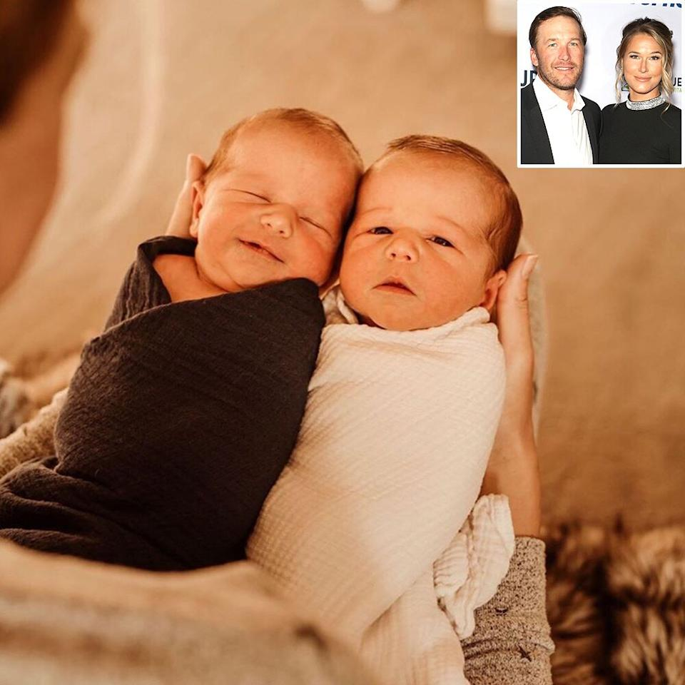 """Bode and Morgan Miller <a href=""""https://people.com/parents/bode-miller-morgan-miller-share-birth-story-twin-sons/"""">welcomed two identical twin baby boys</a>, Asher and Aksel, on Nov. 8, 2019.  The new additions joined the couple's sons <a href=""""https://people.com/parents/bode-miller-wife-morgan-introduces-son-easton-photo/"""">Easton Vaughn Rek</a>, 13 months, and<a href=""""https://people.com/parents/bode-miller-welcomes-son-nash-skan/"""">Edward Nash Skan</a>, 4, plus Bode's son Samuel Nathaniel, 6, and daughter Neesyn Dace, 11. Bode and Morgan's daughter<a href=""""https://people.com/parents/bode-miller-welcomes-daughter-morgan-beck/"""">Emeline Grier</a>died after a<a href=""""https://people.com/parents/bode-miller-daughter-emeline-dies-after-drowning-in-pool/"""">tragic drowning accident in June 2018</a>at 19 months old."""
