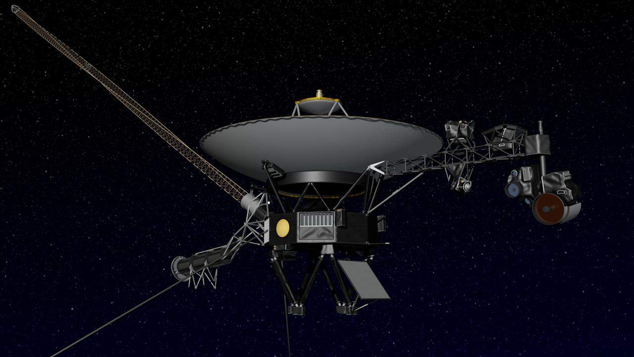 NASA undated handout image shows an artist's concept of the Voyager 2 spacecraft. Voyager 2 has successfully switched to the backup set of thrusters that controls the roll of the spacecraft. Deep Space Network personnel sent commands to the spacecraft to make the change on November 4 and received confirmation on November 14 that the switch has been made. The change allows engineers to reduce the amount of power that the 34-year-old spacecraft needs to operate by turning off the heater that keeps the fuel to the primary thrusters warm. Although the rate of energy generated by Voyager 2's nuclear power source continues to decline, by reducing its power requirements, engineers expect the spacecraft can continue to operate for another decade. Voyager 2 is currently located about 9 billion miles (14 billion kilometers) from Earth in the heliosheath -- the outermost layer of the heliosphere where the solar wind, which streams out from the sun, is slowed by the pressure of interstellar gas. REUTERS/NASA/JPL/Handout