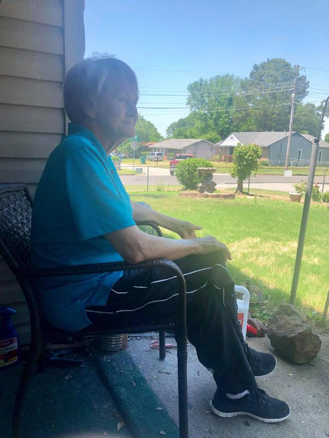 Wilma Bray on her porch in Tennessee. (Photo: Courtesy of Darrien Middleton)