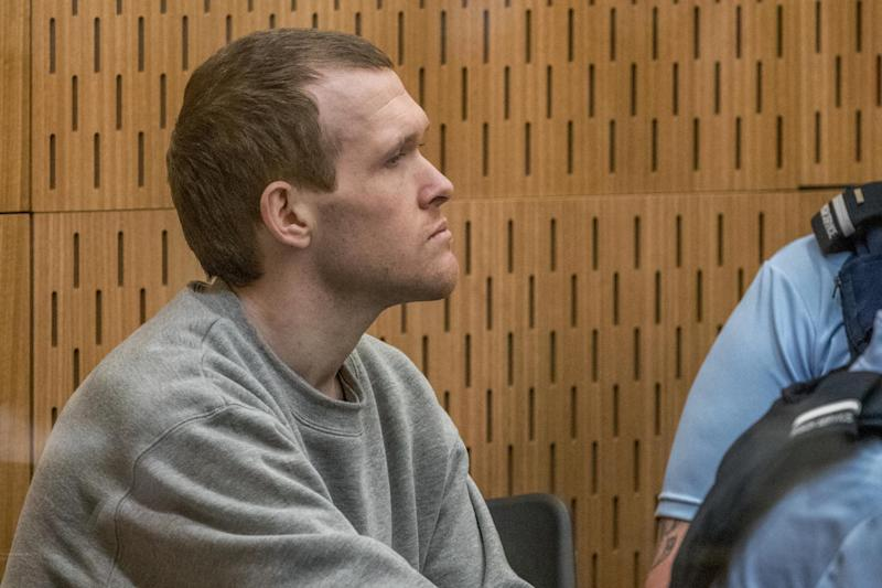 Christchurch mosque gunman Brenton Tarrant arrives for his sentencing hearing at Christchurch High Court on Wednesday: Getty Images