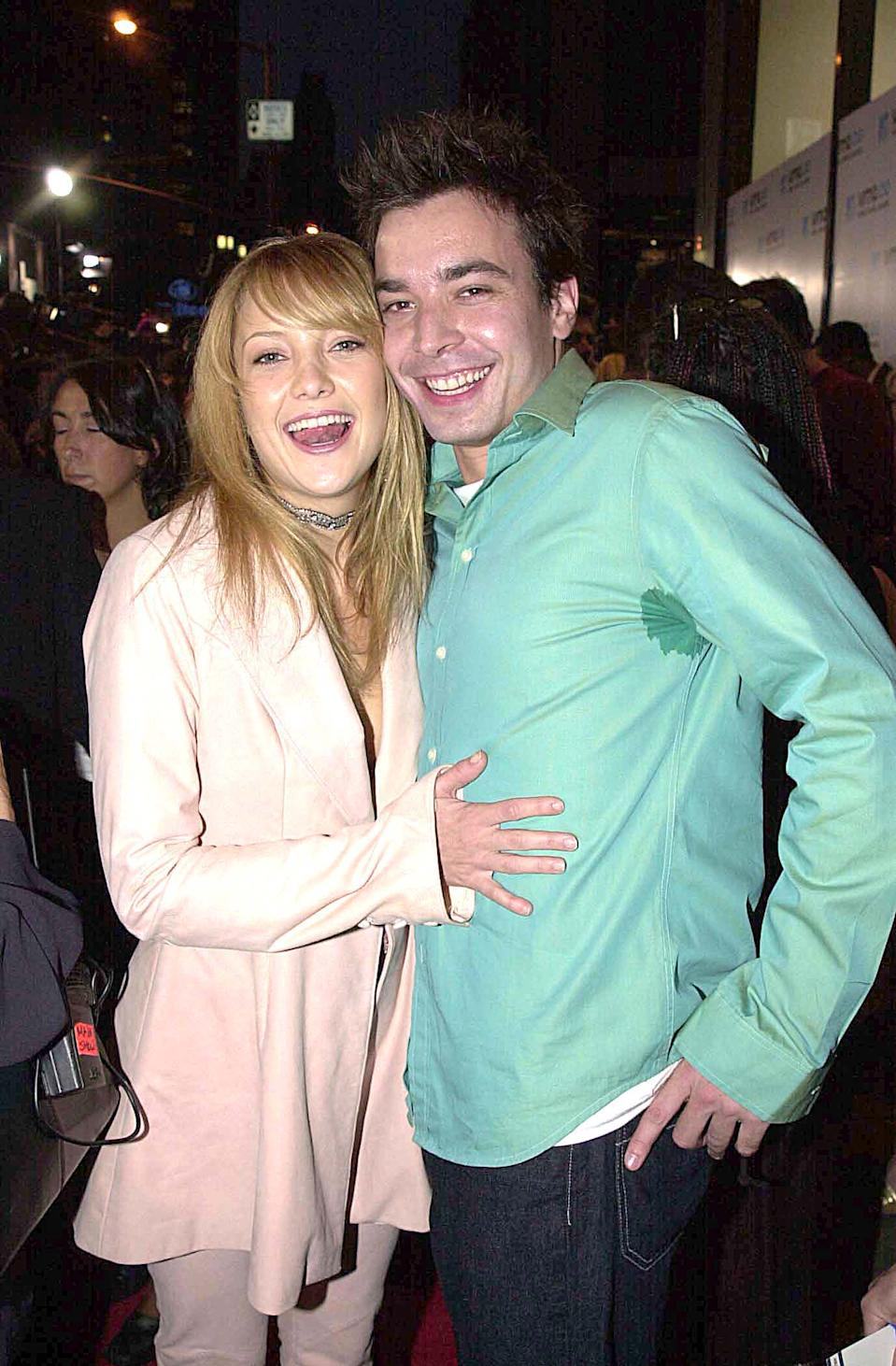 Kate Hudson and Jimmy Fallon during 2000 MTV Video Music Awards at Radio City Music Hall in New York City, New York, United States. (Photo by Jeff Kravitz/FilmMagic, Inc)