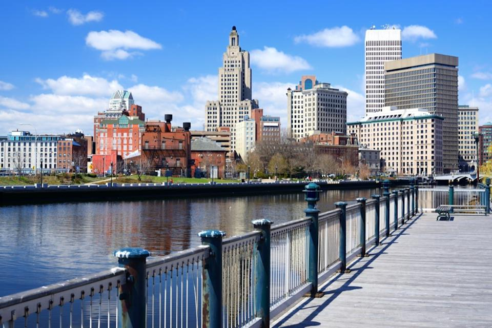 cityscape photo of pier and building in downtown Providence, Rhode Island