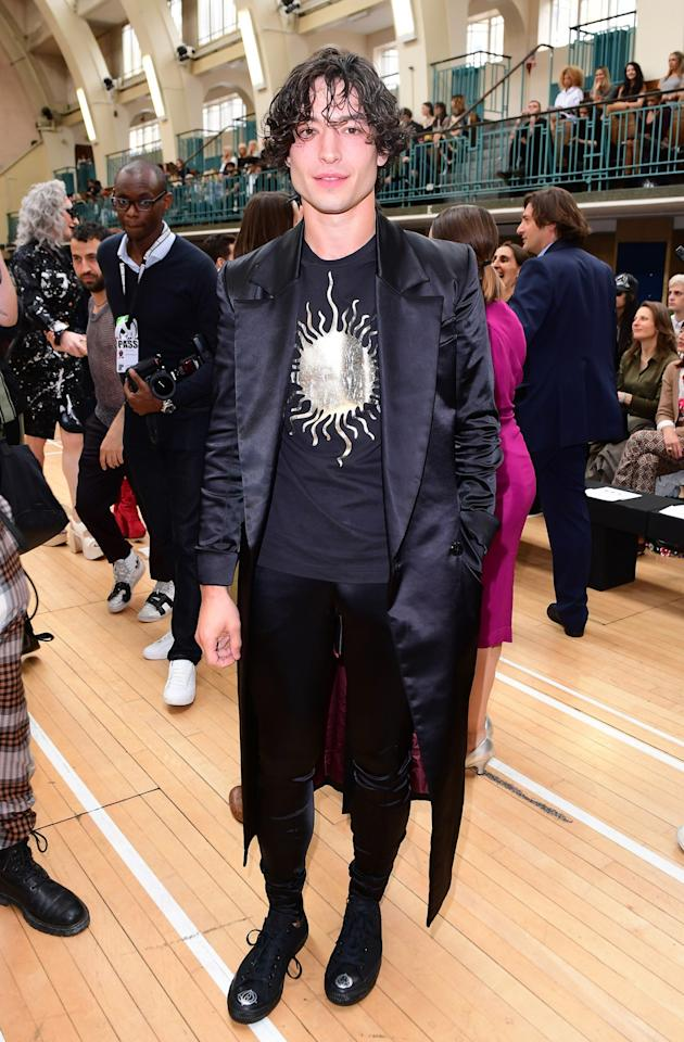 <p>The US actor (you may recognise him from 'Famous Beasts and Where To Find Them' made a surprise appearance at the Vivienne Westwood SS18 show. <br /><em>[Photo: PA]</em> </p>