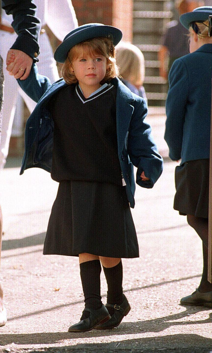 <p>September 7, 1994 was a big day for Princess Eugenie, who started reception class at Upton House School. That blazer 💔.</p>