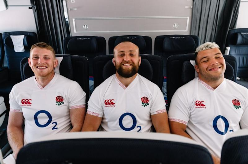 Ellis Genge (right) is hoping to make his mark with England
