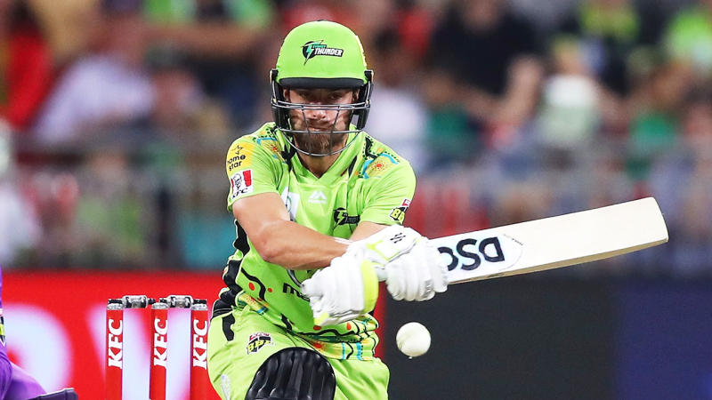Alex Ross bats during the Big Bash League match between the Sydney Thunder and the Hobart Hurricanes at Sydney Showground Stadium on January 11, 2020 in Sydney, Australia. (Photo by Mark Kolbe/Getty Images)
