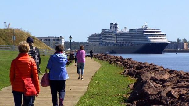From spring through the fall most days Charlottetown Harbour was hosting a cruise ship or two, or even three, before the pandemic. (CBC - image credit)