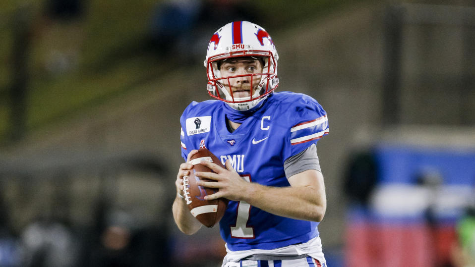 SMU quarterback Shane Buechele is having another strong season. (AP Photo/Brandon Wade)
