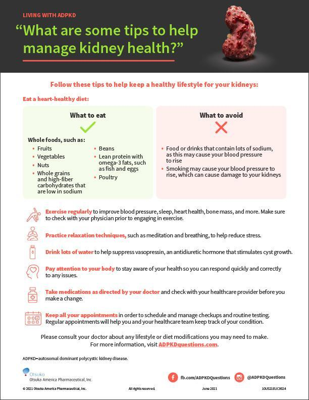 What are some tips to help manage kidney health?