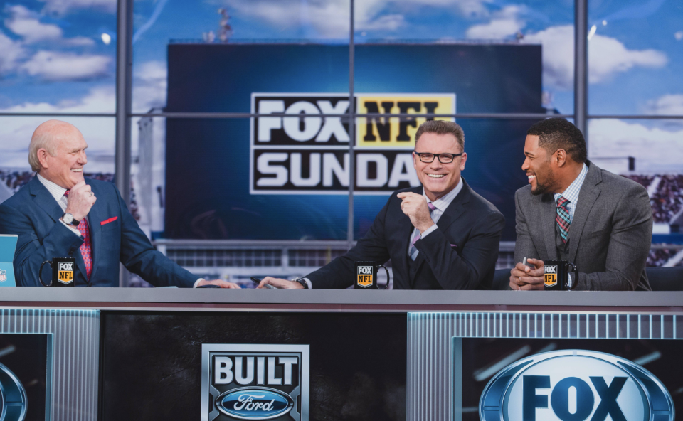 Terry Bradshaw, Howie Long, Michael Strahan and others spoke about social justice Sunday morning. (Via screenshot)