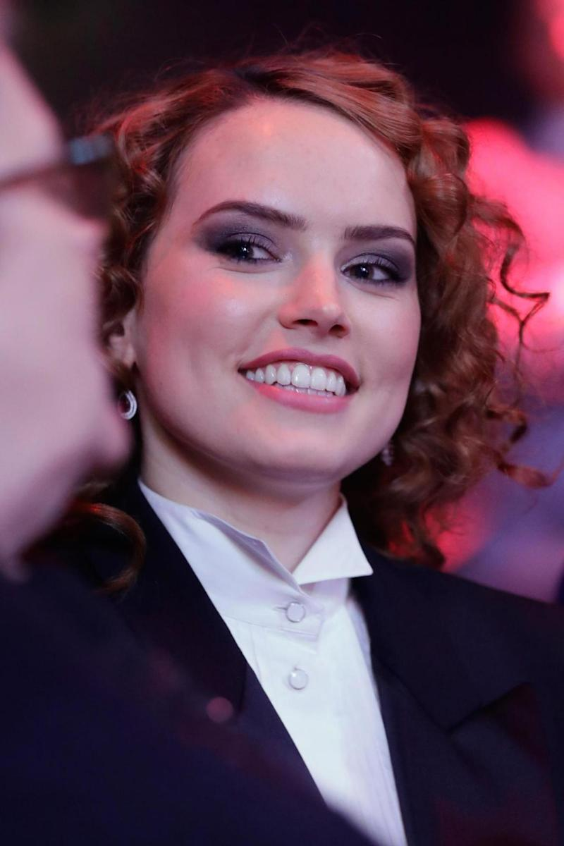 Winner: Daisy Ridley at the Empire awards (Getty Images)