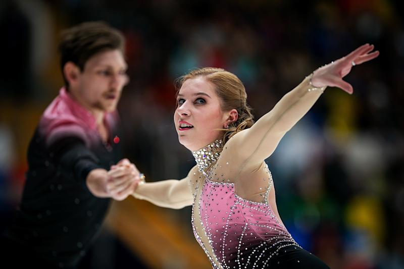 MOSCOW, RUSSIA - NOVEMBER 16: Ekaterina Alexandrovskaya and Harley Windsor of Australia compete in the Pairs Short Program during day 1 of the ISU Grand Prix of Figure Skating, Rostelecom Cup 2018 at Arena Megasport on November 16, 2018 in Moscow, Russia. (Photo by Joosep Martinson - International Skating Union/International Skating Union via Getty Images) (Photo: Joosep Martinson - International Skating Union via Getty Images)