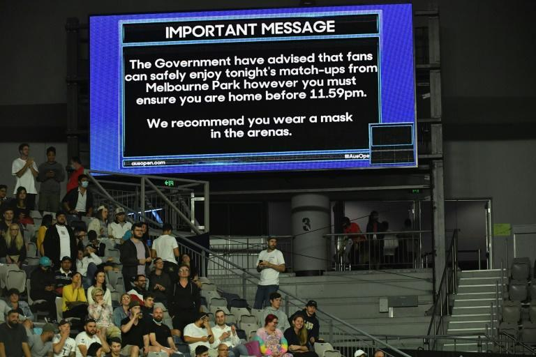 Spectators were reminded they must be home before midnight, when the state lockdown begins