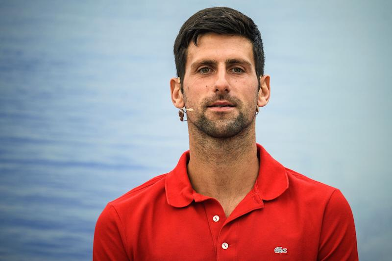 "Novak Djokovic is concerned that the health precautions for the US Open might be too ""extreme"" for him to participate. (Photo by Andrej ISAKOVIC / AFP) (Photo by ANDREJ ISAKOVIC/AFP via Getty Images)"