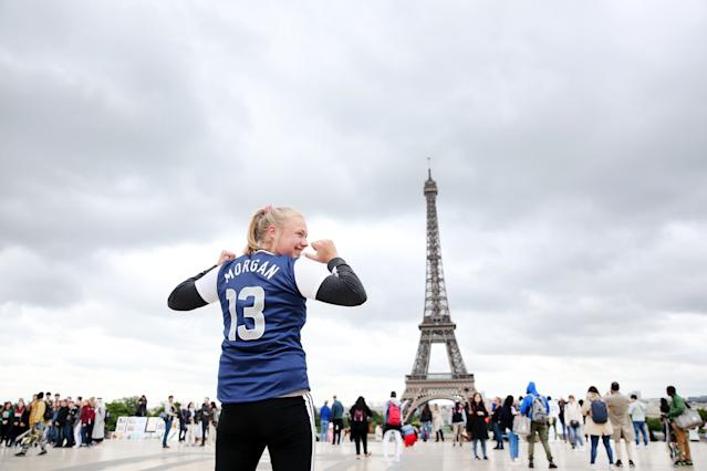 Fans like this one are excited for the Women's World Cup, but you wouldn't know it based on how FIFA has marketed the tournament. (Getty)