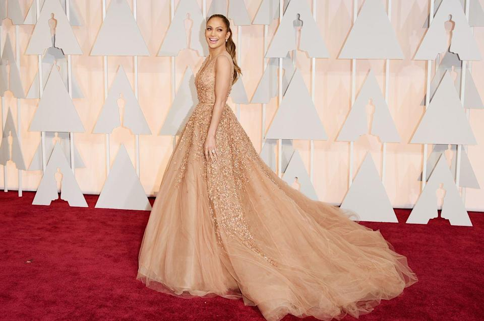 <p><strong>When: </strong>March 2015</p><p><strong>Where:</strong> The Academy Awards</p><p><strong>Wearing: </strong>Elie Saab</p>