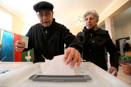 Easy re-election seen for Azerbaijani president in snap vote