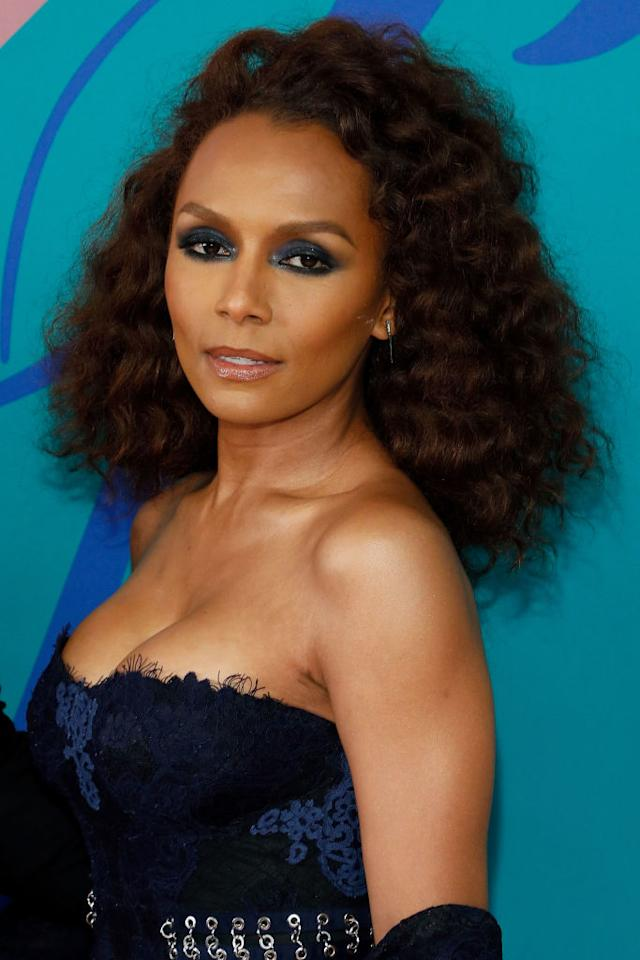 <p>Janet Mock's volumious textured look is gorgeous and summer ready. (Photo by Taylor Hill/FilmMagic) </p>