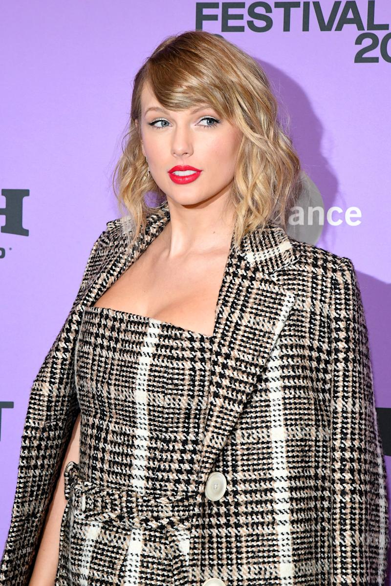 PARK CITY, UTAH - JANUARY 23: Taylor Swift attends the Netflix premiere of Miss Americana at Sundance Film Festival on January 23, 2020 in Park City, Utah. (Photo by Kevin Mazur/Getty Images for Netfilx)