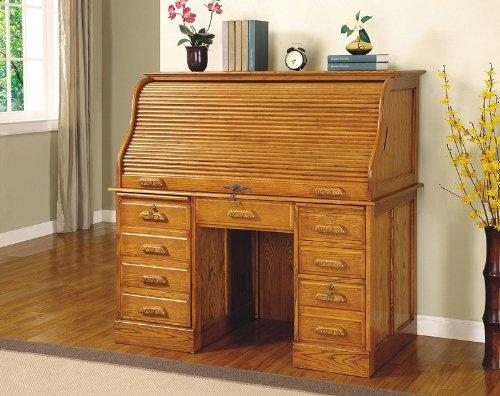 """<div class=""""caption-credit""""> Photo by: etsy.com</div><b>Out: Roll-Cover Desk.</b> For letter-writers with quill collections, this was a must-have. <br> <a rel=""""nofollow noopener"""" href=""""http://yhoo.it/x36TA7"""" target=""""_blank"""" data-ylk=""""slk:[Browse for furniture deals]"""" class=""""link rapid-noclick-resp"""">[Browse for furniture deals]</a> <br>"""