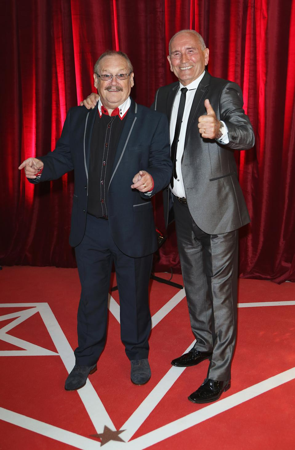 Bobby Ball and Tommy Cannon at the British Soap Awards at Media City on May 18, 2013 in Manchester, England. (Photo by Tim P. Whitby/Getty Images)