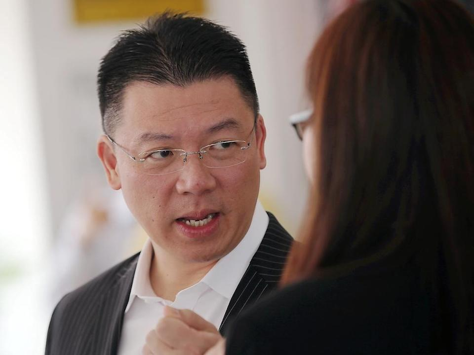 Perak DAP chairman Nga Kor Ming speaks to reporters during an event in Ipoh September 12, 2019. — Picture by Farhan Najib
