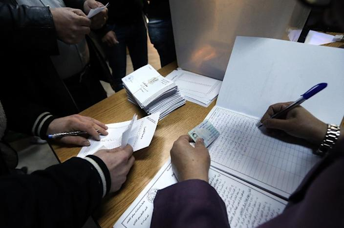 Syrians are voting in their second ballot since the beginning of the war in 2011 (AFP Photo/Joseph Eid)