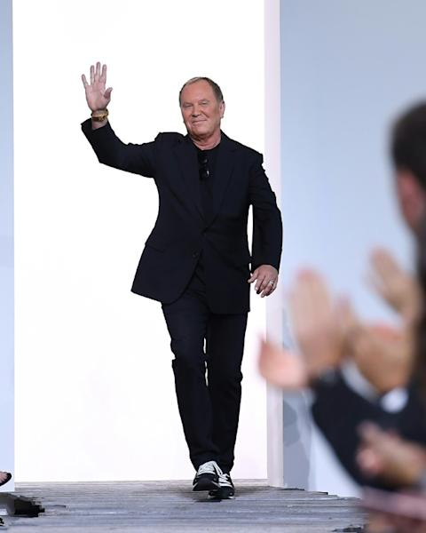 Designer Michael Kors displayed a riot of contrast in his fall/winter 2018 show, with everything from florals to animal print to loud yellow and black check