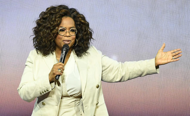 SAN FRANCISCO, CA - FEBRUARY 22: Oprah Winfrey speaks during Oprah's 2020 Vision: Your Life in Focus Tour presented by WW (Weight Watchers Reimagined) at Chase Center on February 22, 2020 in San Francisco, California. (Photo by Steve Jennings/Getty Images)