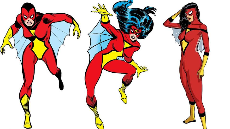 Veteran artist Marie Severin came up with a truly memorable costume when designing Spider-Woman in 1977.