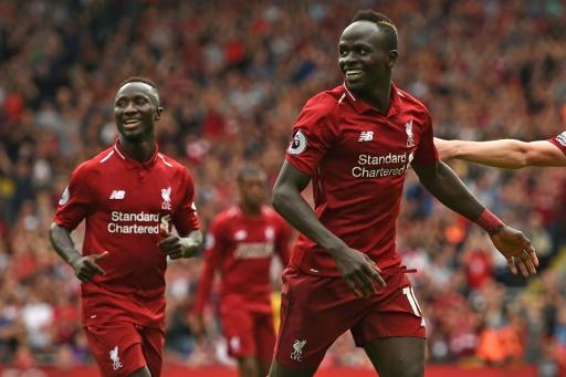 Liverpool's Sadio Mane took his tally for the season to four goals in four games at Leicester on Saturday