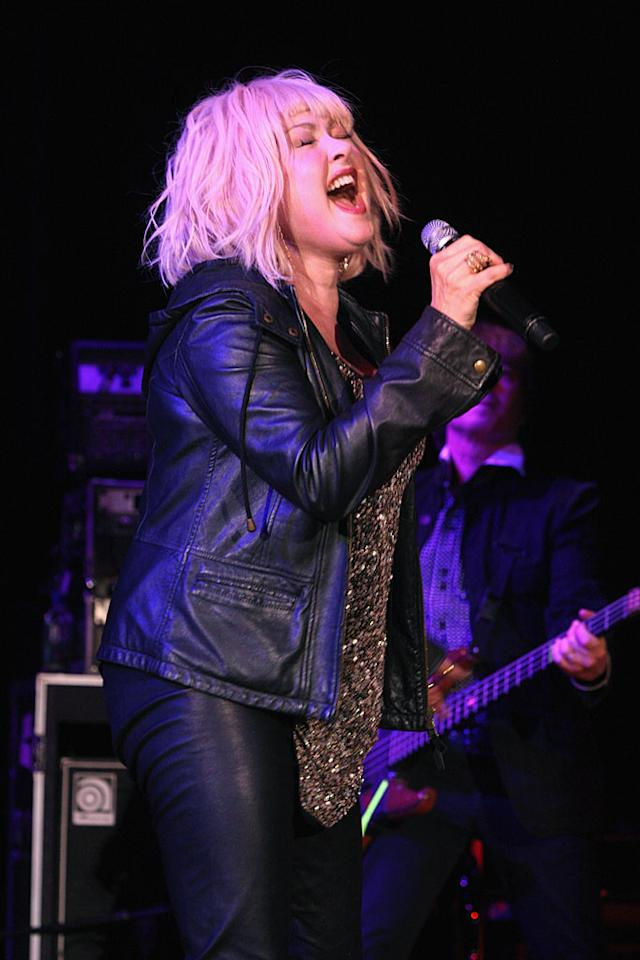 NEW YORK, NY - NOVEMBER 05:  Singer Cyndi Lauper performs onstage at Lenox Hill Hospital's autumn ball on November 5, 2012 in New York City.  (Photo by Bennett Raglin/WireImage)