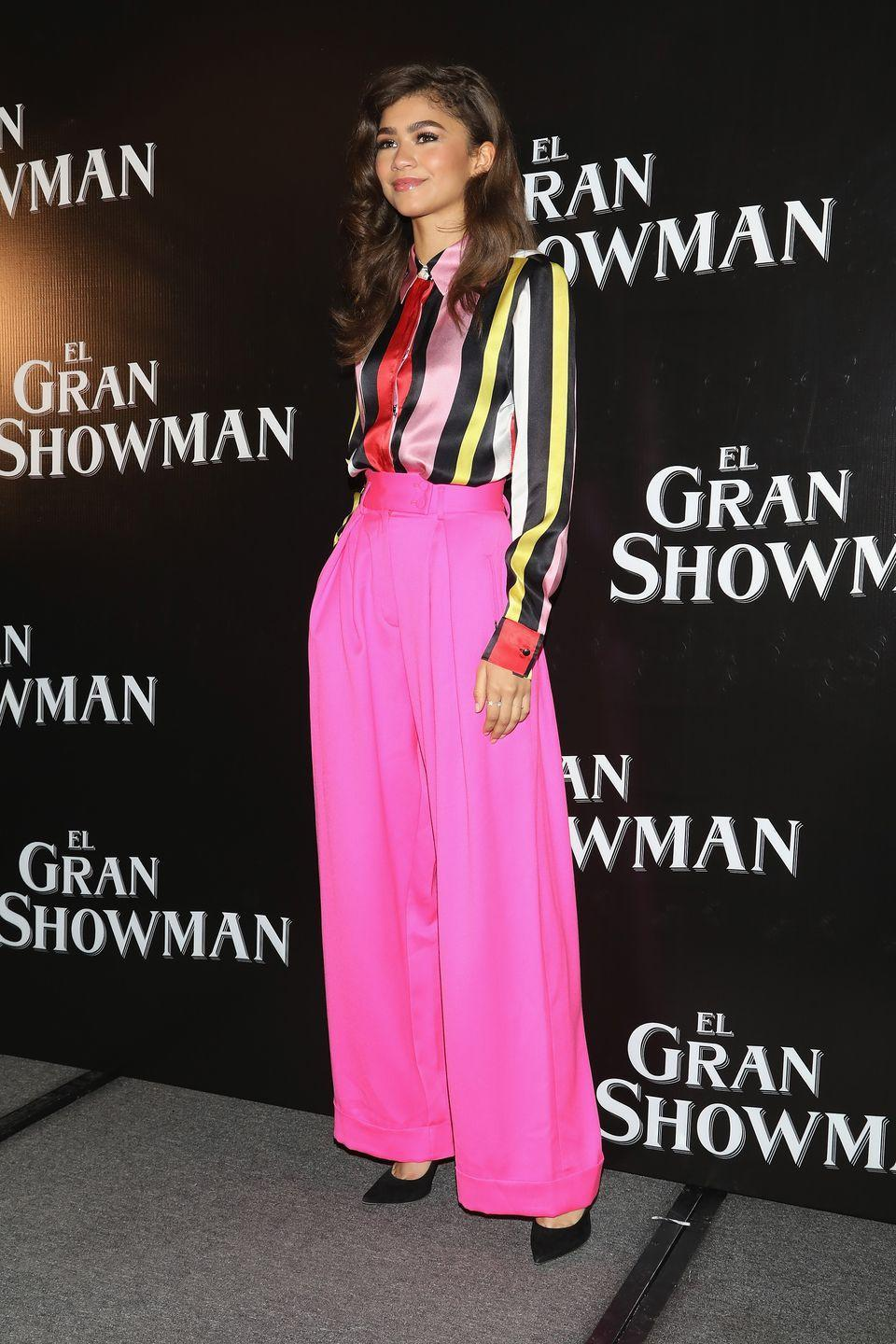 <p>Wide leg pants are comfy and chic. They are breathable due to the oversized silhouette but add a pink colorway and belted waist and they become a fashion statement piece.</p>