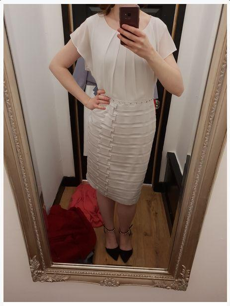 A wedding guest recently posted this photo of a white dress asking if she could wear it to a wedding.