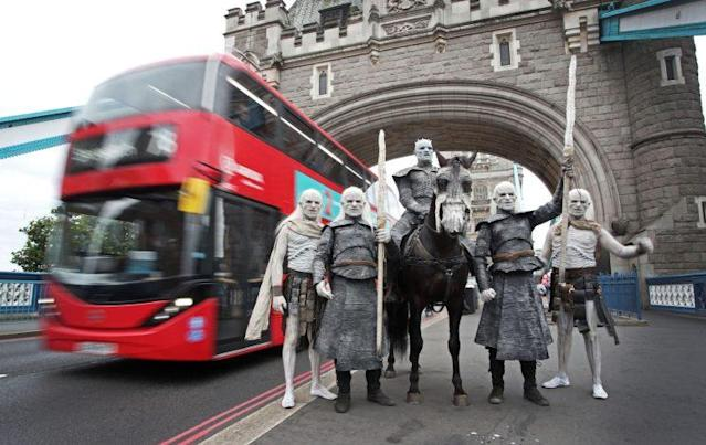 White Walkers invade London. (Photo: Sky Atlantic)