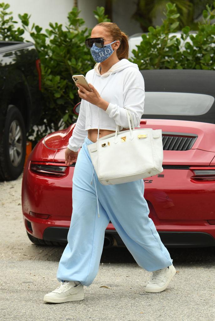 MIAMI, FL - JANUARY 12:  Jennifer Lopez is seen on January 12, 2021 in Miami, Florida. (Photo by MEGA/GC Images)
