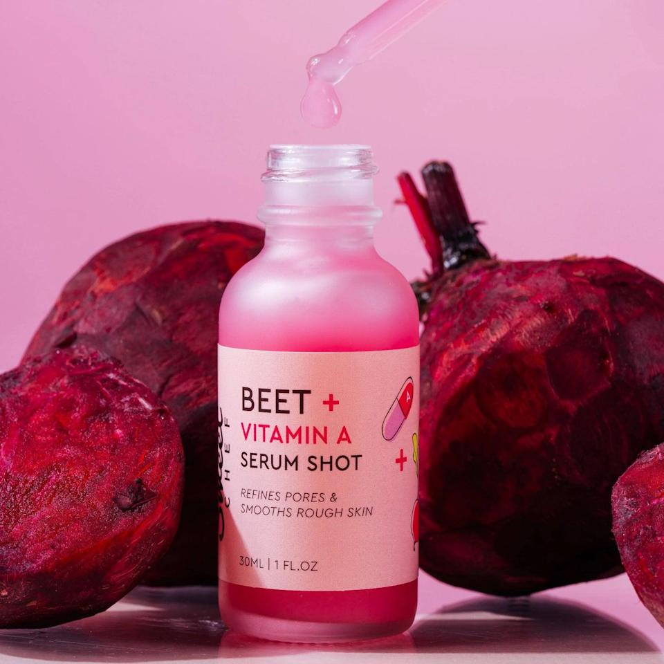 <p>The <span>Sweet Chef Beet Vitamin A Serum Shot</span> ($20) is a lightweight gel serum that is packed with antioxidants and vitamin A. It will refine and smooth out your complexion, minimize the signs of aging, and makes skin feel soft and supple. You can use this day and night.</p>