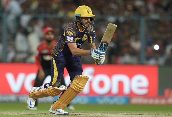 Pandey will most likely come in at No. 3 in the KKR batting line-up. Overs the years, Manish Pandey has cemented his position as KKR's sheet anchor. Batting at the crucial No. 3 position, Pandey has successfully carried on the responsibility of providing stability in the middle overs and creating the platform for the team's hitters to go after the bowling in the death overs.Extra Cover:IPL 2017 Fantasy Tips: Setting up your team - Part 3Against Gujrat Lions, Pandey's job will be a difficult one as he will have to deal with the left arm spin of Shadab Jakati. Even after promising performances for Chennai Super Kings, Jakati has failed to create a big name for himself. Buthe is more than effective during the middle overs and has remained difficult to score against. The former CSK spinner is a wily customerThe Goa bowler has an economy of 7.54 in T20 cricket which is impressive. This contest between this solid right hand KKR batsman and the tidy left-arm bowler from Lions promises to be an enthralling one.