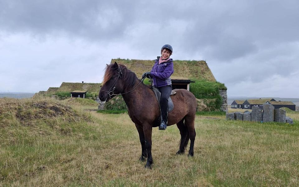 kathy on a norse horse