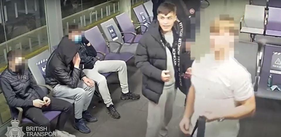 Harry Powell, 19, was handed a four-month prison sentence, British Transport Police said (BTP/PA)