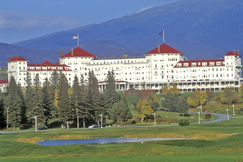 "<p>You'd be hard-pressed to find more stunning scenery than that of the Mount Washington Hotel. The sprawling property, near Bretton Woods ski resort, was built in the early 1900s and became a National Historic Landmark in 1986. A 50,000-square-foot addition in 2009 added to its major footprint.<br></p><p><strong>EXPLORE NOW:</strong> <a href=""https://www.tripadvisor.com/Hotel_Review-g46031-d92144-Reviews-Omni_Mount_Washington_Resort-Bretton_Woods_New_Hampshire.html"" rel=""nofollow noopener"" target=""_blank"" data-ylk=""slk:Omni Mount Washington Resort"" class=""link rapid-noclick-resp"">Omni Mount Washington Resort</a></p>"