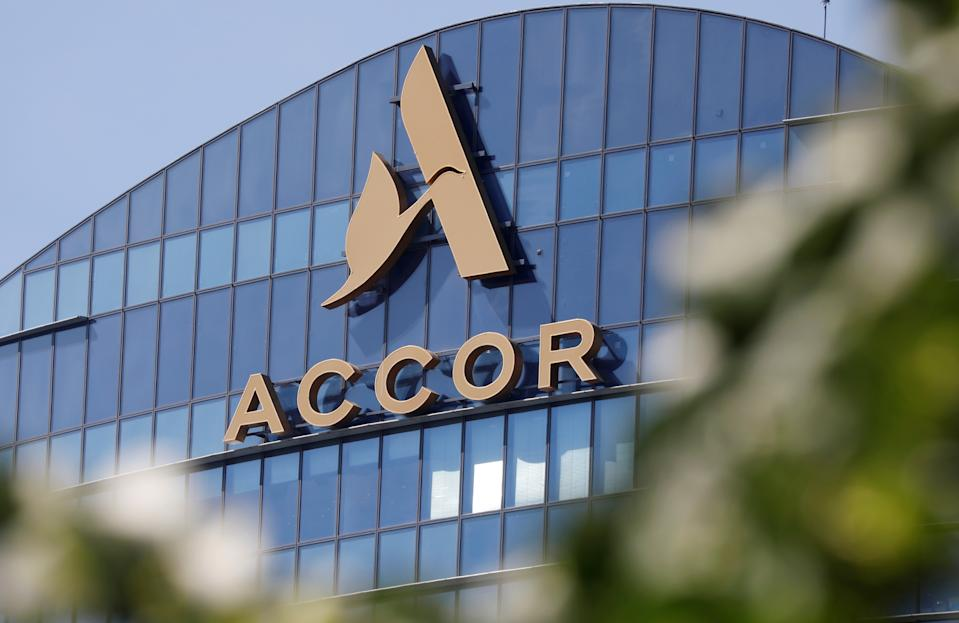 The logo of French hotel operator AccorHotels is seen on top of the building company's headquarters in Issy-les-Moulineaux near Paris, France, May 27, 2020.  REUTERS/Charles Platiau